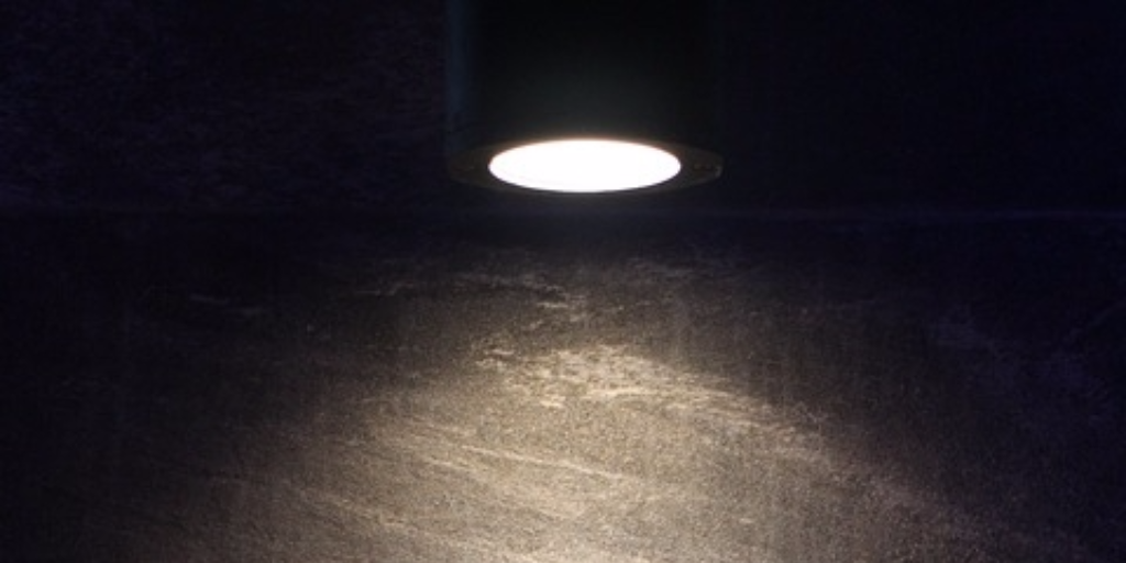 The beam of a spotlight